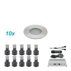 Grondspots Ori LED Set 10 stuks 1 Watt