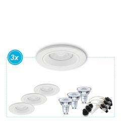 LED inbouwspot Meran wit, set van 3