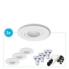LED inbouwspot Aveza wit, 3 stuks