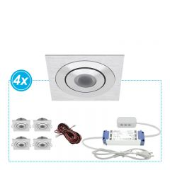 LED Inbouwspots set Aco 4