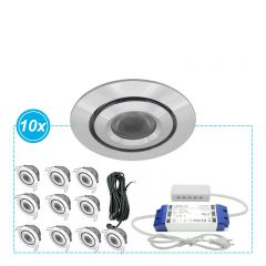 LED Inbouwspots Mura set 10
