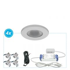 LED Inbouwspots Monno set 4