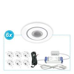 Witte LED inbouwspots set van 6