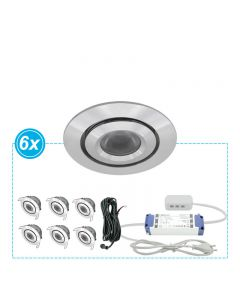 LED Inbouwspots set Mura 6