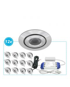 LED Inbouwspots Mura set 12