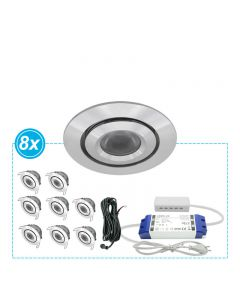 LED Inbouwspots set Mura 8