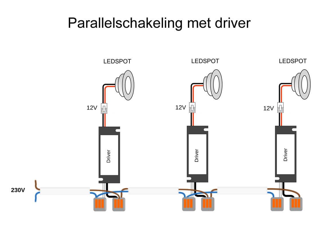 Parallelschakeling schema