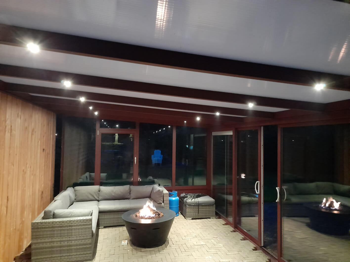 Led verlichting veranda