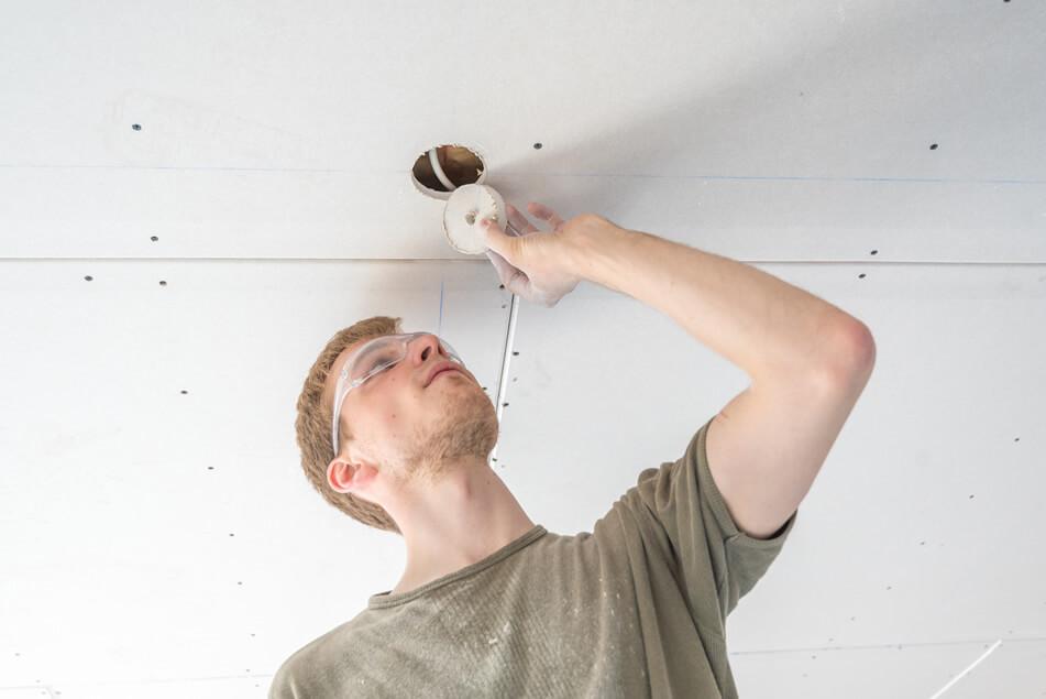 Verlaagd plafond inbouwspots inbouwdiepte