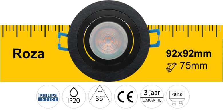 LED specificaties inbouwspot Roza
