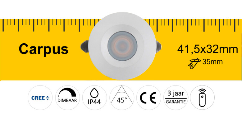 LED specificaties Carpus LED spot