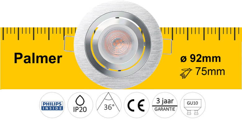 LED inbouwspot Palmer specificaties