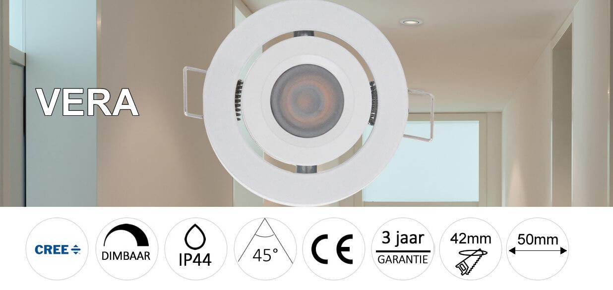 LED Inbouwspots Vera Set van 4